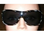 New Womens Valentino Sunglasses Shield Black & Horn Crystals - €121,84 EUR