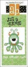 Just A Quickie: A Little Monster Mack cross stitch chart Amy Bruecken Designs - $3.60
