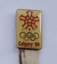 Collector Souvenir Spoon Canada Alberta Calgary 1988 Winter Olympics Logo - $4.99