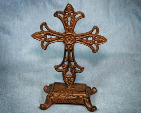Cross iron standing
