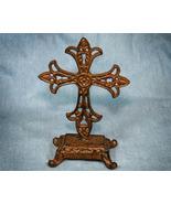 Brown Inspirational Standing Iron Cross - $11.98