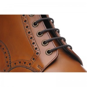 Handmade Mens Brogue Wingtip Ankle High Leather Boots