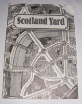 1985 Scotland Yard Board Game Instructions - $10.00