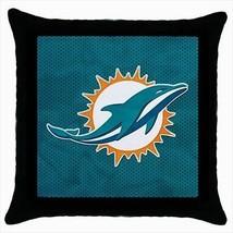 Miami Dolphins Throw Pillow Case - NFL Football - $16.44
