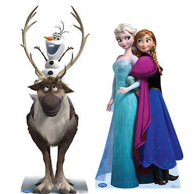 Frozen Walt Disney Movie Promo Poster Anna Elsa Sven Kristoff No.2 Consumers First Entertainment Memorabilia