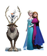 SET OF 2 DISNEY FROZEN SVEN OLAF & ANNA ELSA CARDBOARD STANDUP STANDEE C... - $71.75