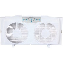Optimus F-5286 8 Reversible Twin Window Fan with Thermostat - $79.72