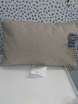 "Gold Metallic Embroidered Lumbar Pillow Fieldcrest 12"" x 18"" Feather Down Fill image 2"