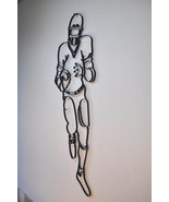 Football Player Iron Decorative Metal Wall Art Large Sculpture Wrought S... - $54.00