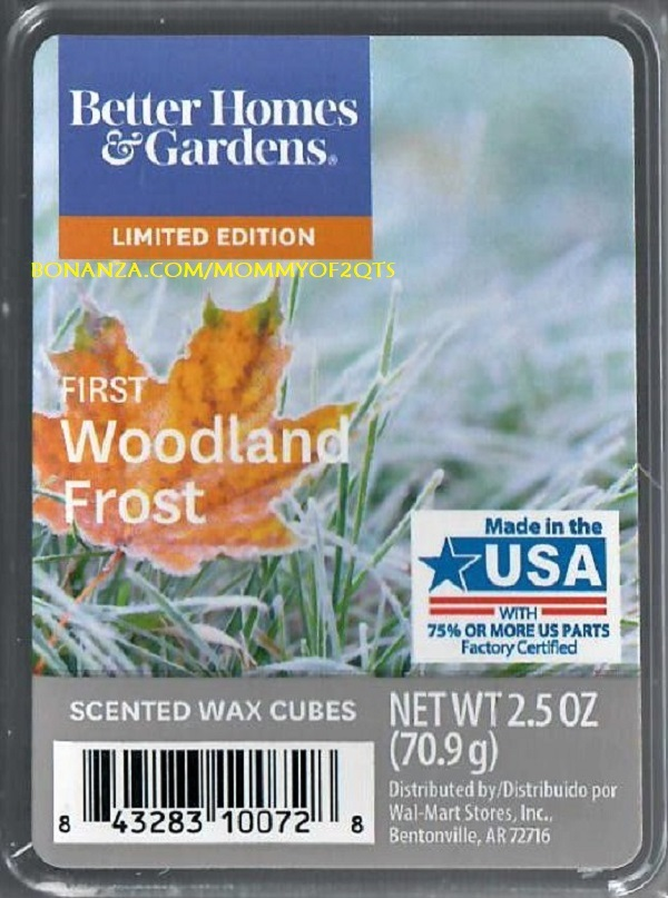 Primary image for First Woodland Frost Better Homes and Gardens Scented Wax Cubes Tarts Melts