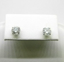 14k Gold 1.62ct Total Weight Genuine Natural Diamond Stud Post Earrings ... - $3,295.00