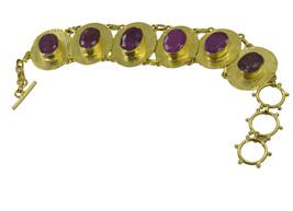 Multi Gold Plated Glass captivating Multi Gemstone common Bangle AU gift - $20.45