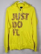 Nike Therma Fit Felpa Pullover Uomo Manica Lunga Giallo TAGLIA S - $22.87
