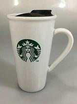 Starbucks Mermaid Split Tail White Ceramic Travel Mug Tumbler 16 oz Hand... - $29.89