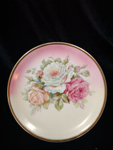 Vintage CT ALTWASSER SILESIA  Hand Painted Porcelain Plate   Pink & Mauv... - $12.99