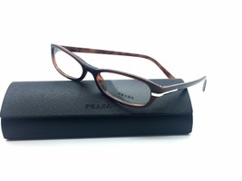 Prada Brown Eyeglasses Vpr 13G 7OI 52mm Demo Lenses Fashion Case Not Included - $77.15