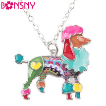 Bonsny Enamel Poodle Choker Necklace - $18.95