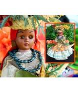 Vintage Island Girl Souvenir Doll Sleepy Eyes Caribbean Hard Plastic - $14.95