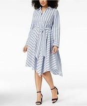 INC International Concepts Sz 14W Dress Striped Asymmetrical Shirtdress ... - $39.59