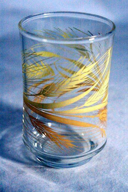 """Libbey Golden Wheat Footed Juice Glass 3 1/2"""" - $3.59"""