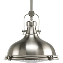 Progress Lighting P5188-09 Fresnel Collection 1-Light Pendant, Brushed N... - $271.36