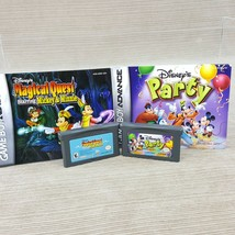 Nintendo Game Boy Advance SP LOT Disney's Party & Magical Quest Games w/... - $19.24