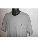 Vintage 90s Heather Gray Nike Swoosh T-Shirt XL - $24.99