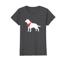 Labrador Retriever Wearing Red Bandana Dog Silhouette Shirt - $19.99+