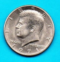 1971 D Kennedy Halfdollar - Near uncirculated Extremely Desirable Condition - $4.00