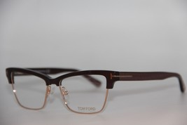 New Tom Ford Tf 5364 048 Brown Eyeglasses Authentic Rx TF5364 53-15 W/CASE - $128.82