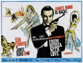 From Russia With Love Movie Poster 30 x 40 James Bond 007 Sean Connery RARE - $39.99