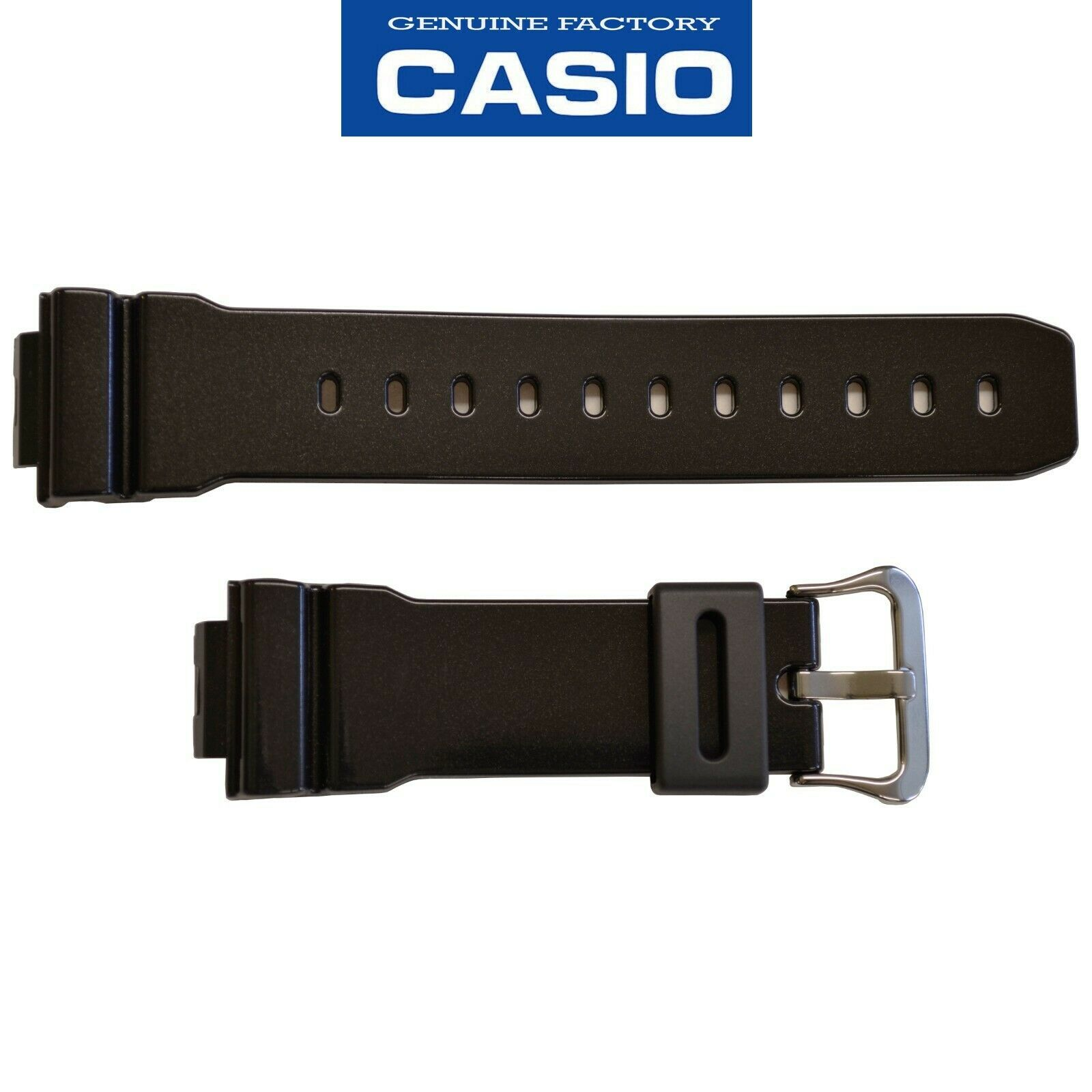 Primary image for Genuine CASIO WATCH Glossy  Black BAND Strap DW-6900MF-1 G-6900CC GW-6900CC