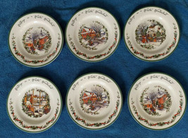 "Certified International Winter Wonderland 8-7/8"" Dessert Plates 6 NWT S. Winget - $79.99"