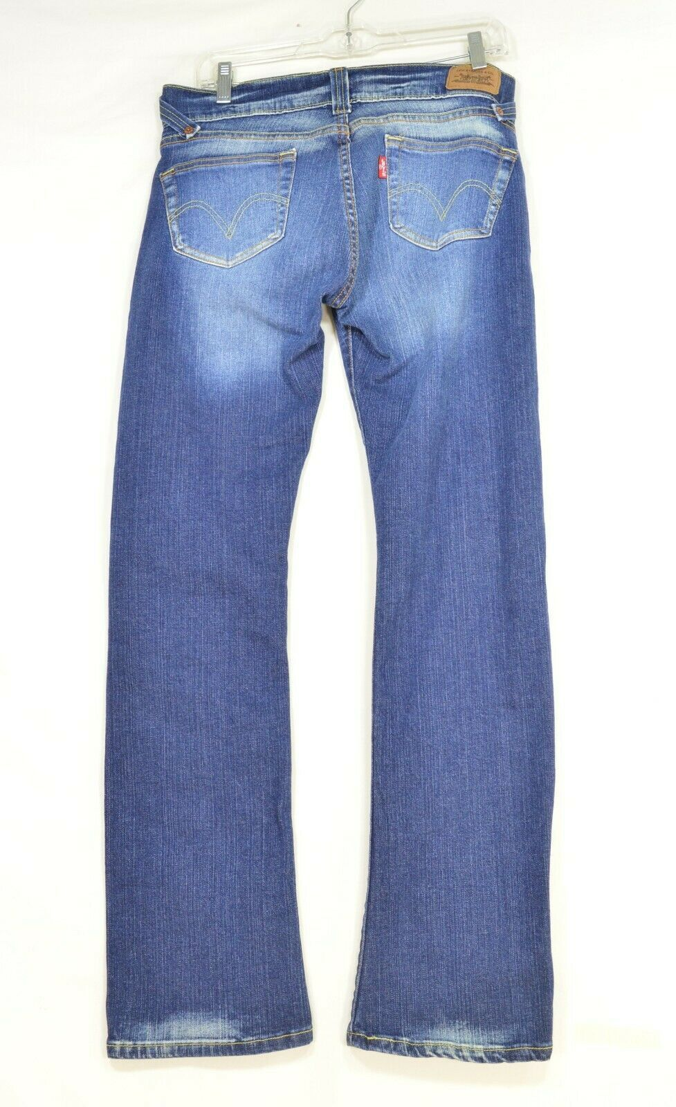 Levi 504 7 x 32 slouch straight leg low rise dark wash image 6