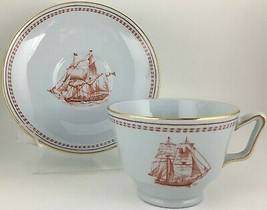 Spode Trade Winds Red Cup & saucer - $5.00
