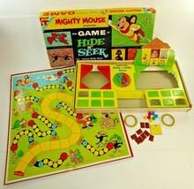 VTG 1961 Transogram Terrytoons HIDE N SEEK Board Game Mighty Mouse Heckl... - $35.04