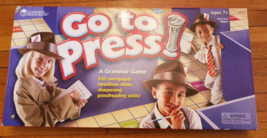 GO TO PRESS A GRAMMAR GAME LEARNING RESOURCES COMPLETE EXCELLENT CONDITION - $20.00