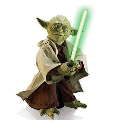 "Primary image for Star Wars Jedi Master Yoda W/ Lightsaber Body Movement Voice Recognition 16"" Toy"