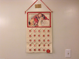 Best Christmas Wishes Countdown Fabric Calendar with Santa by Primitives NEW - $39.99