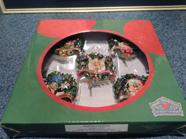 Disney Tradition Wreath Disc Ornament Five Piece Set New in Original Disney Box
