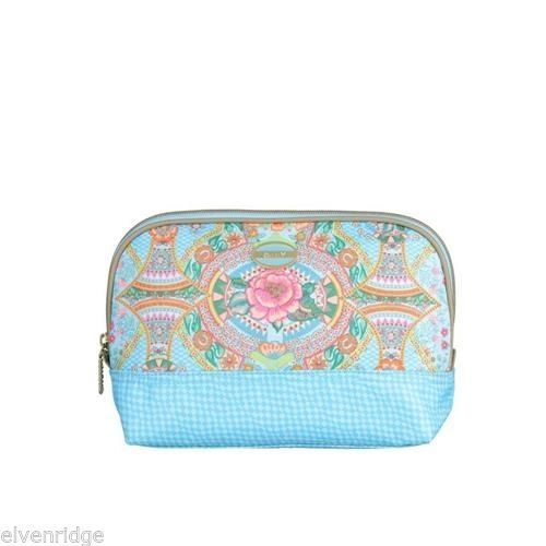 Oilily Toiletry Bag Compact Lagoon Color NEW