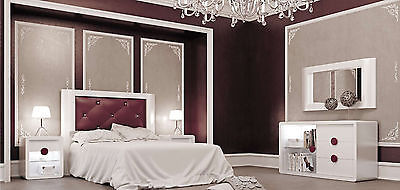 Krystal 03 Queen Size Bedroom Set Contemporary Modern Made in Spain