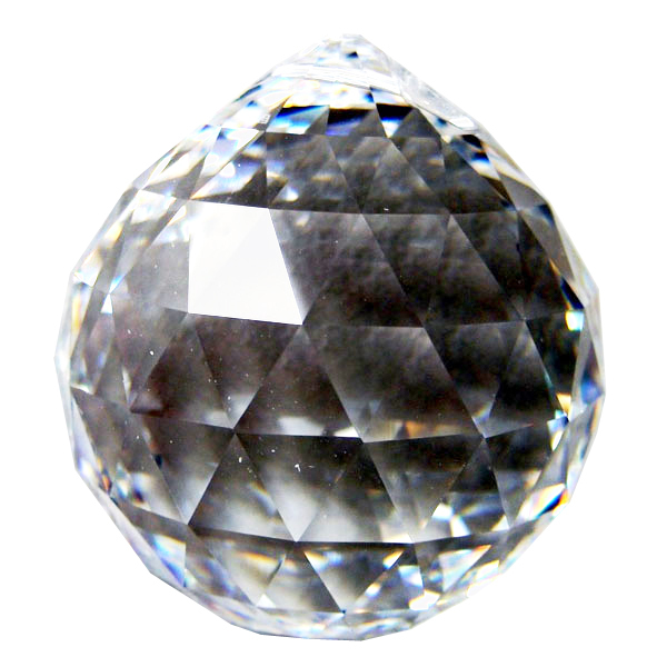 Swarvoski Strass Crystal 70mm Faceted Ball Prism  Clear