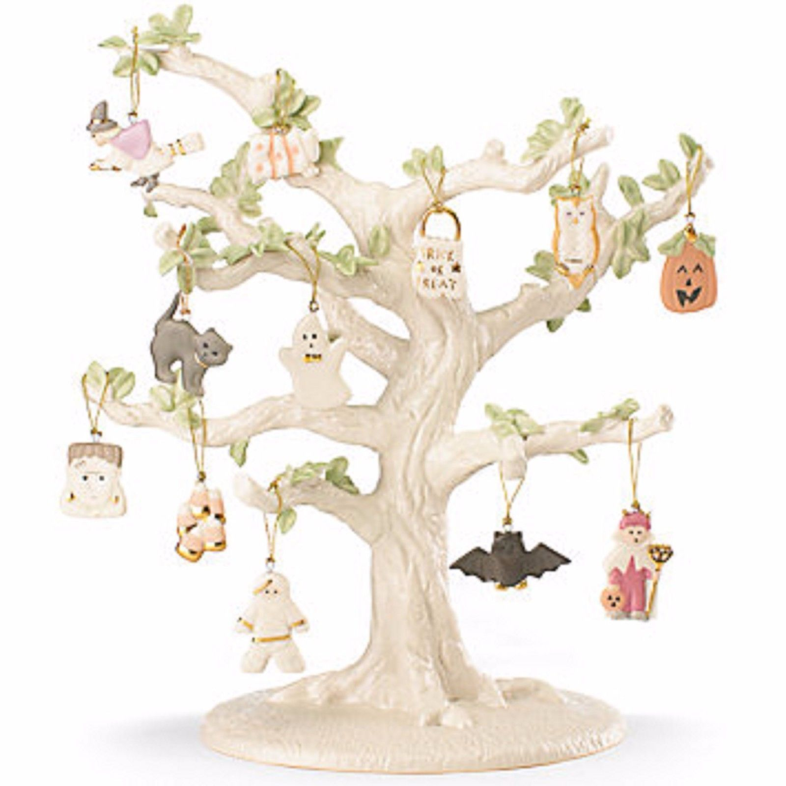 Lenox Halloween Trick Or Treat Miniature Tree Ornaments 12