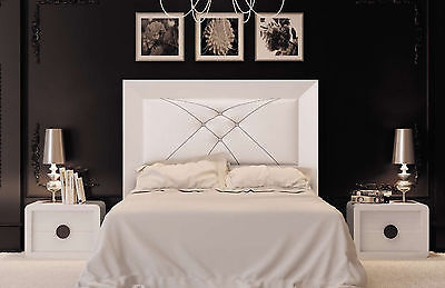 Krystal 01 Queen Size Bedroom Set Contemporary Modern Made in Spain