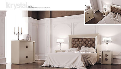 Krystal 02 Queen Size Bedroom Set Contemporary Modern Made in Spain