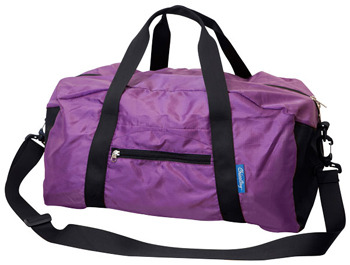 ChicoBag ®~Duffel rePETe~Reusable Bagw/Pouch & Carabiner~AMETHYST