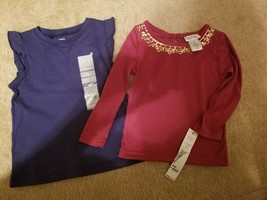 2 Toddler Girls Shirts size 2 T & 24 Months  NWT - $4.46