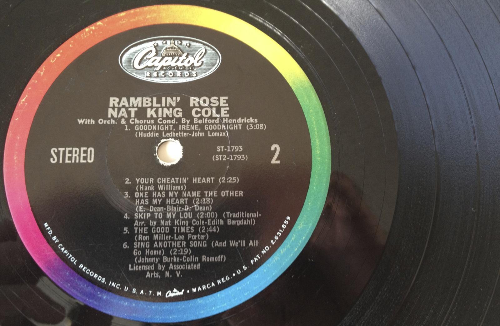 Nat King Cole - Ramblin' Rose LP Vinyl Record Album, Capitol Records