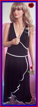 NWT $198 L LARGE A. B. S. Allen Schwartz Little Black Sleeveless White Trm Dress - $98.99